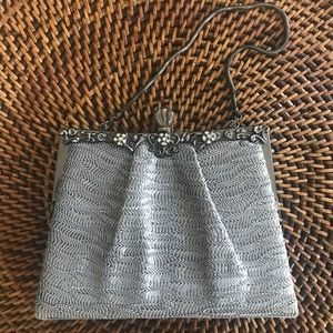 Kate Landry Gray Evening Clutch Purse Crossbody